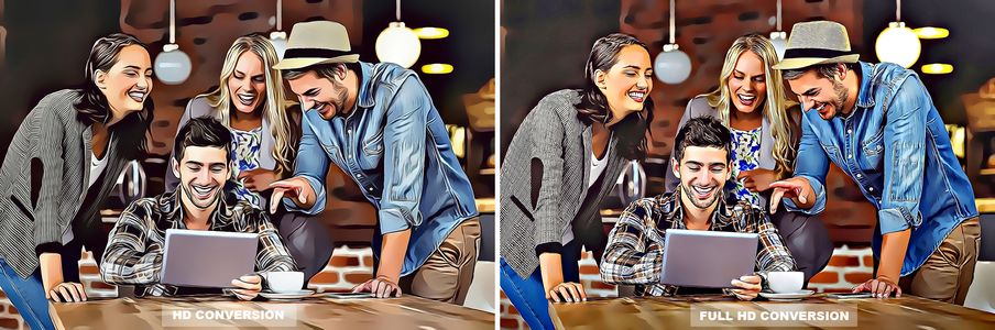 Cartoon Effect Full HD Before After